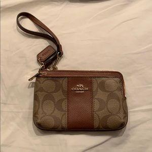 Coach wristlet wallet clutch